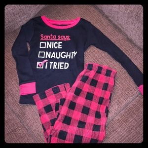 NEW Carter's Santa Says Pajama Set Size 5T